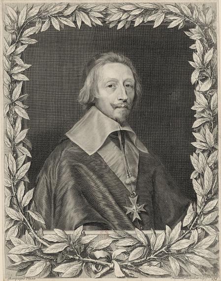 El cardenal Richelieu, por Robert Nanteuil.