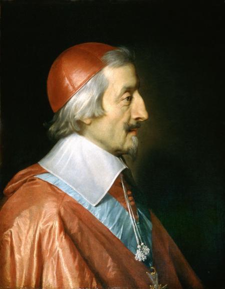 El cardenal Richelieu, en un retrato realizado pocos meses antes de morir.
