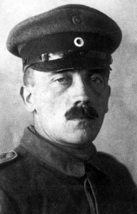 El joven Adolf Hitler, soldado en la Primera Guerra Mundial.