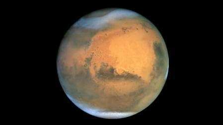 Photo of Mars taken in 2001 with the Hubble Space Telescope