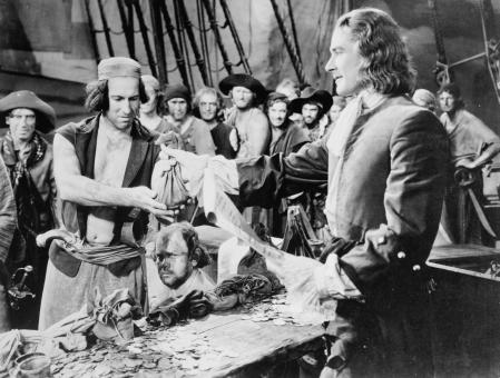 The cinema has idealized the image of pirates.  In the photo, Captain Blood, 1935