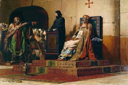 El papa Formoso y Esteban VI de Jean-Paul Laurens.