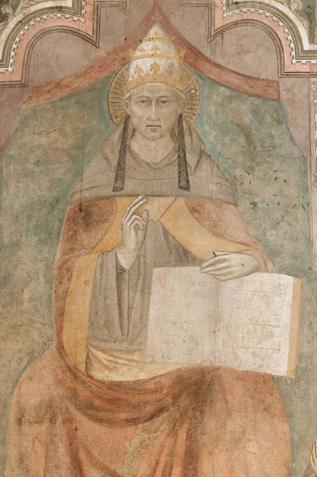 Representación del papa Celestino V.
