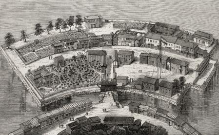 Isla de Dejima, único punto de encuentro entre el Japón de la era Edo y Occidente