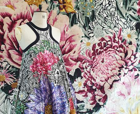 Mary Katrantzou likes to mix styles, trends and schools to the point of merging them