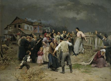 'Víctimas del fanatismo', cuadro de Mykola Pymonenko.
