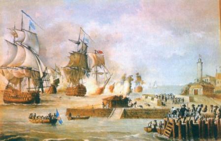 Ataque a Cartagena de Indias por los ingleses en 1741.