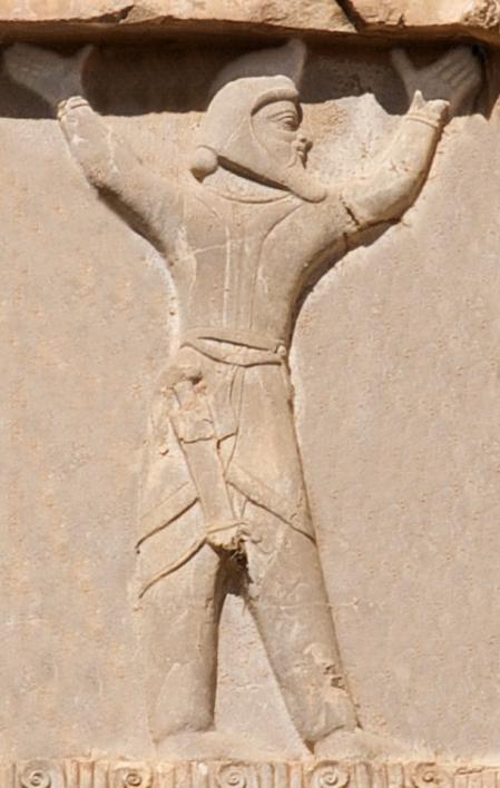 Soldado escita del este, en la tumba de Jerjes I.