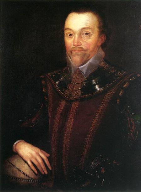 Retrato de Francis Drake.