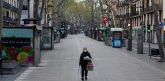 PHOTO ALEX GARCIA LA RAMBLA EMPTY DUE TO THE ALARM AND CONFINEMENT STATUS CAUSED BY THE CORONAVIRUS 2020/03/21