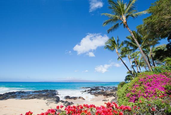 Una playa de la isla de Maui, en Hawái