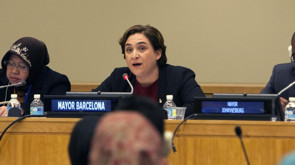 Colau dice en la ONU que siente vergüenza por el papel de Europa y España en la crisis de los refugiados