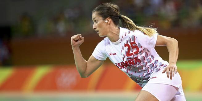 Nerea Pena, del equipo español de balonmano