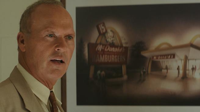 Michael Keaton en un fotograma de 'El fundador'