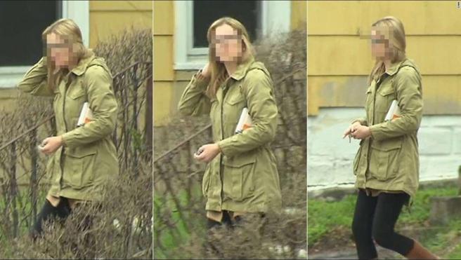 Las cámaras de la CNN captaron a Daniela Greene pero ocultaron su rostro por motivos de seguridad