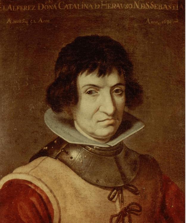 Retrato de Catalina de Erauso, fechado alrededor de 1625