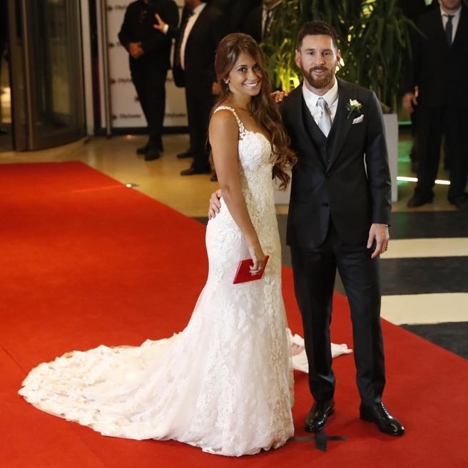 Leo Messi  y Antonella Rocuzzo ya son marido y mujer