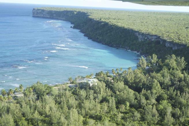 Vista exterior de la isla de Mona
