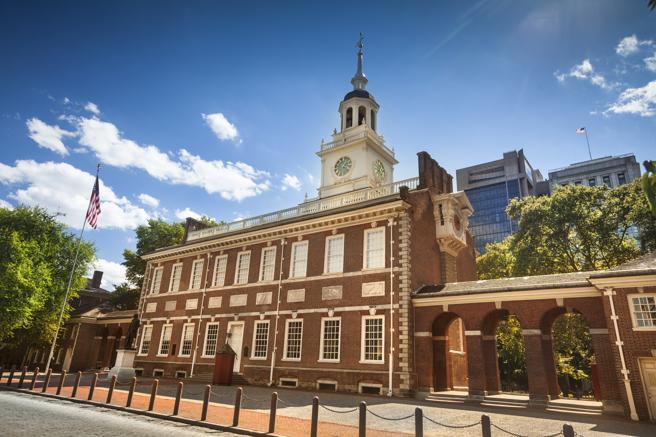 Independence Hall, lugar de nacimiento de la Declaración de Independencia de los EE.UU.