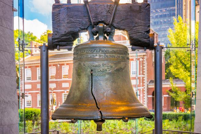 Campana de la Libertad en el Independence National Historical Park, Filadelfia