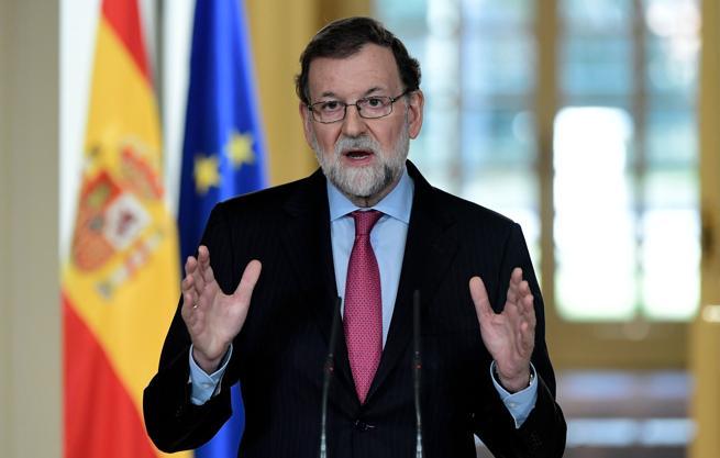 Rajoy en su intervención desde la Moncloa