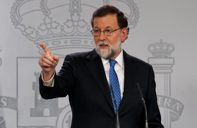 Rueda de prensa del presidente de Gobierno español, Mariano Rajoy, en la Moncloa
