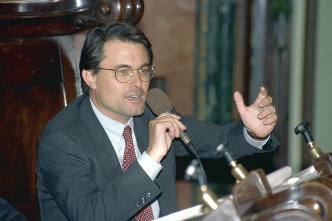 Artur Mas en el pleno de l Ayuntamiento de Barcelona en junio de 1993