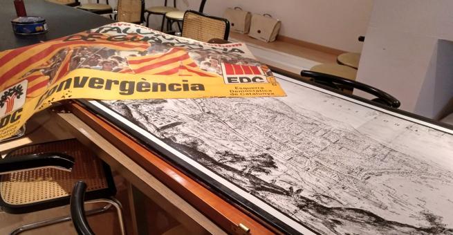 La reproducción de un mapa antiguo de Barcelona irá a parar a un despacho del grupo municipal del PDeCAT