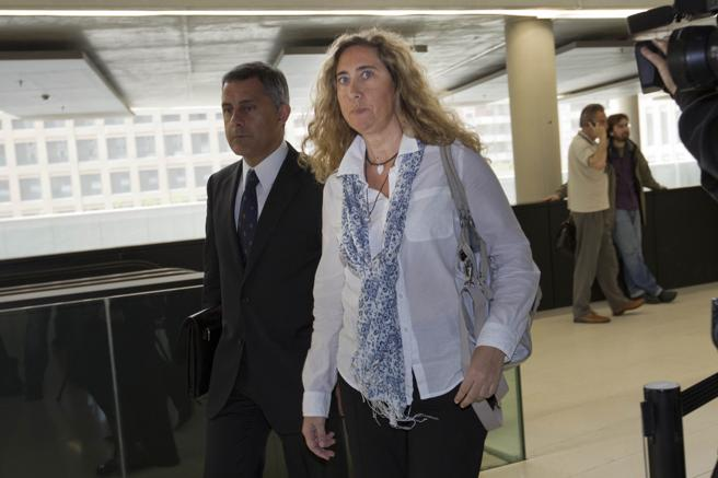 Gemma Montull en la Ciutat de la Justícia