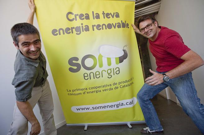 Gijsbert Huijink (derecha) y Eduardo Quintana fueron dos de los promotores de Som Energia