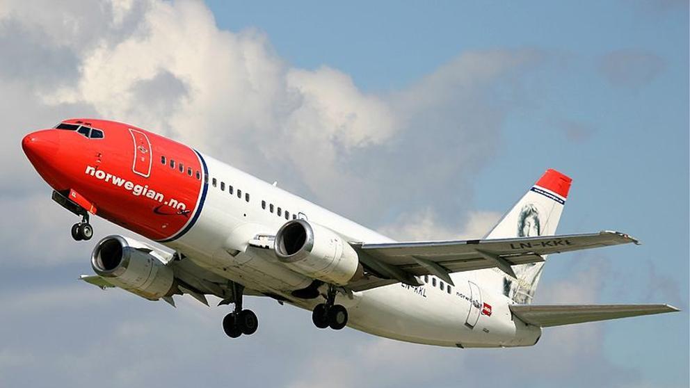 Avión de Norwegian bate el récord en vuelo transatlántico comercial
