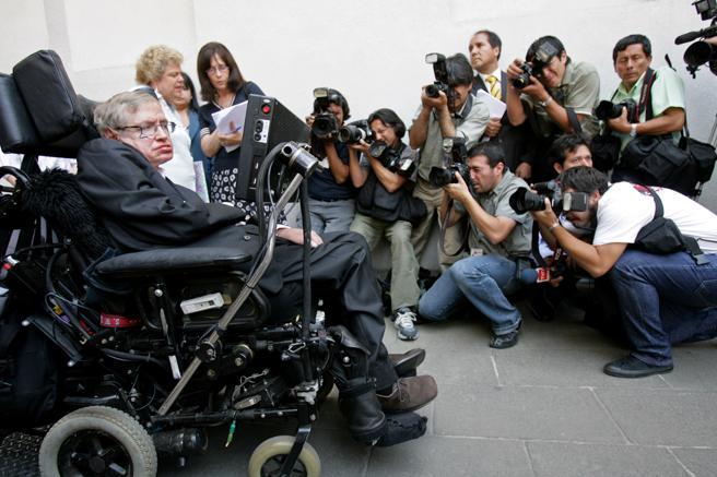 A pesar de su enfermedad, Hawking nunca perdió su sentido del humor