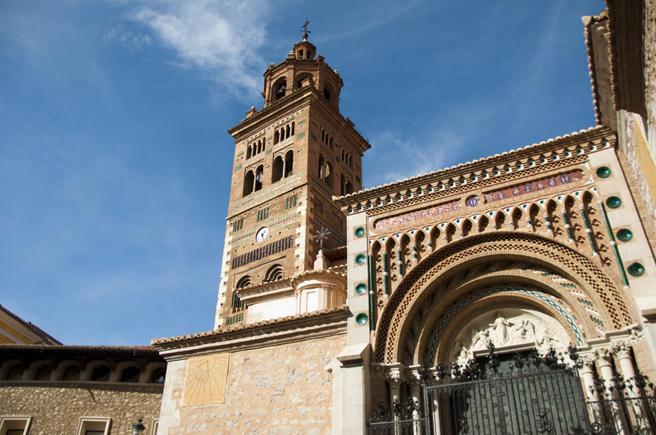 Fachada de la catedral turolense