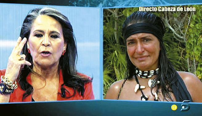 Mari Ángeles Delgado y Aída Nizar en Supervivientes.