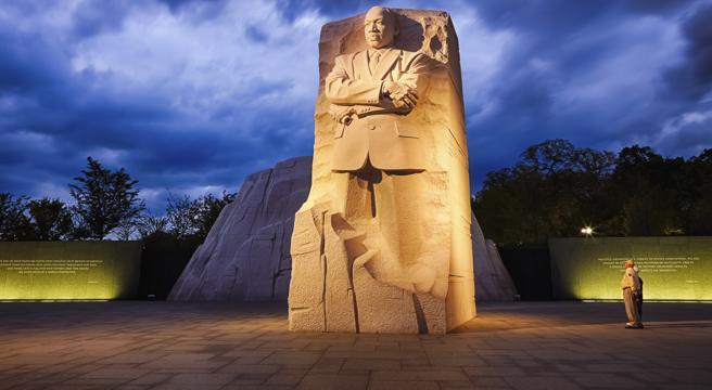 El monumento a Martin Luther King en Washington recuerda la figura del principal defensor de los derechos de los afroamericanos.