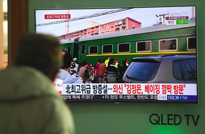 Pekín recibió con gran expectación al tren que transportaba a Kim Jong Un