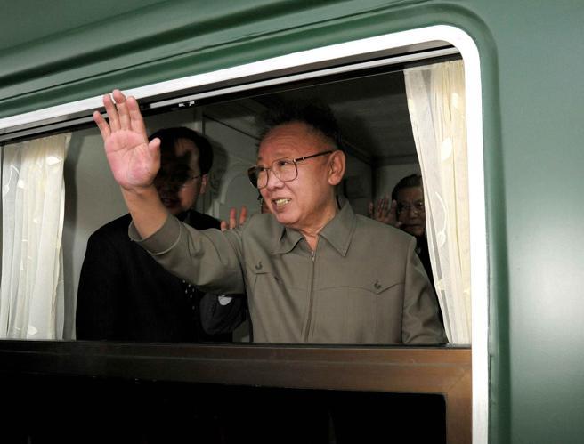 Imagen de 2010, con Kim Jong Il a bordo de este tren de máxima seguridad