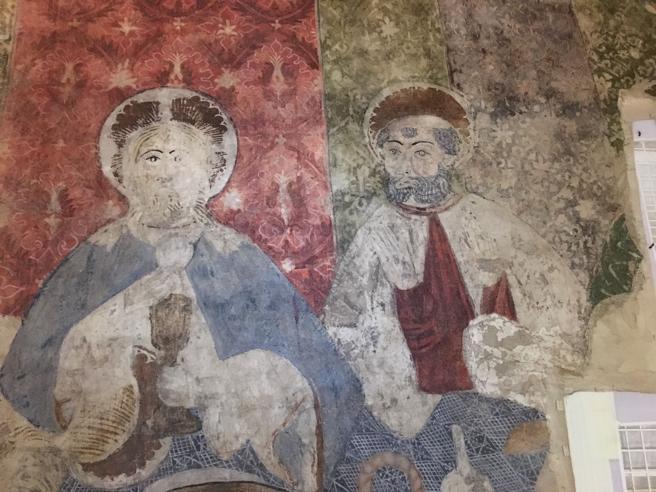 Una de las obras llegadas del MNAC que ahora se exponen en el Monasterio de Sijena