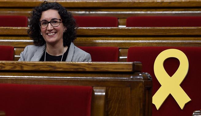 Marta Rovira, en el Parlament