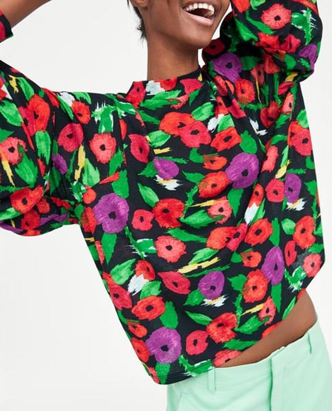 Jersey con estampado floral