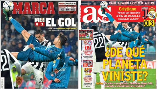 Marca y As se rinden ante la chilena de Cristiano Ronaldo