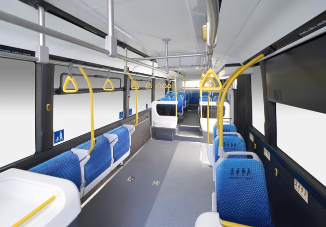 Los asientos que no se utilizan se pliegan automáticamente para dar espacio a otros bultos