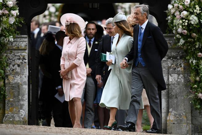 David y Jane Matthews, en la boda de su hijo con Pippa Middleton
