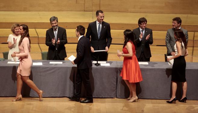 Entrega de despachos de la carrera judicial en Barcelona, en julio de 2016