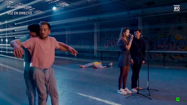 La mágica actuación de Amaia y Alfred con los bailarines de 'Fama, a bailar'