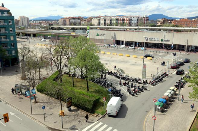 La plaça Espanya de Girona es otro de los proyectos pendientes de realización de Adif por las obras del AVE