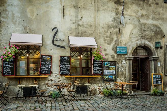 Un restaurante en el barrio judío de Kazimeirz de Cracovia