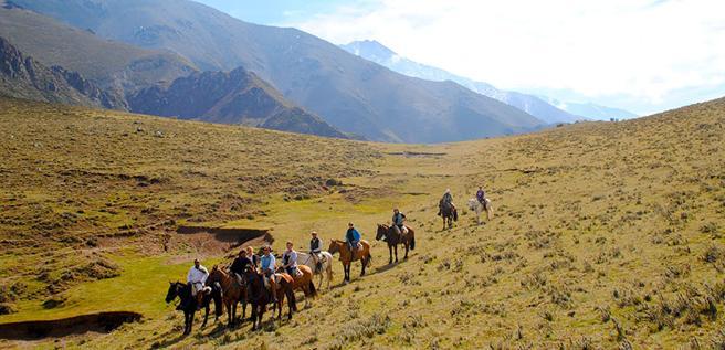 Una de las cabalgatas en Los Andes, junto a Mendoza