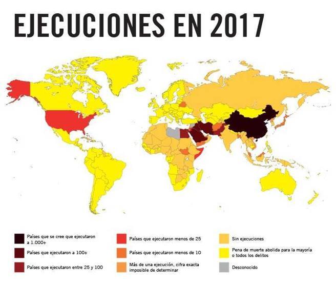 Ejecuciones en el mundo en el año 2017