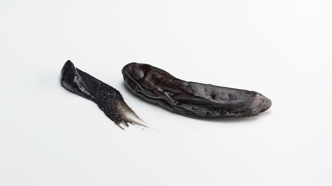 Pieza de banana negra y pasta de gambas 2014